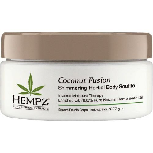 Hempz Coconut Fusion Herbal Shimmering Body Souffle, 8 Ounce