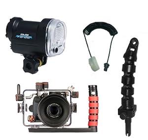 Canon G15 Underwater Ikelite Camera Housing 6146.15 & Sea & Sea YS-02 Quick Release Strobe Package