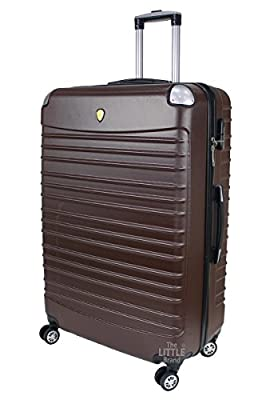 Rocklands London Lightweight 4 Wheel ABS Hard Shell Luggage Suitcase Cabin Travel Bag ABS611 by Rocklands London