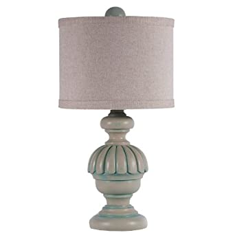 small teal green capri accent table lamp. Black Bedroom Furniture Sets. Home Design Ideas