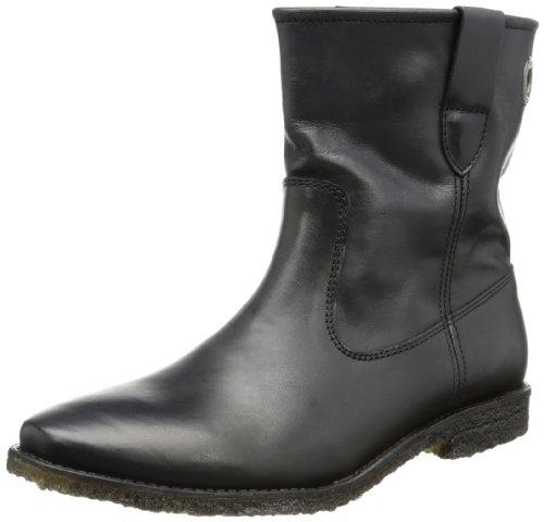 Cashott Womens A10215 Schlupfstiefel Black Schwarz (Black 364) Size: 7 (41 EU)