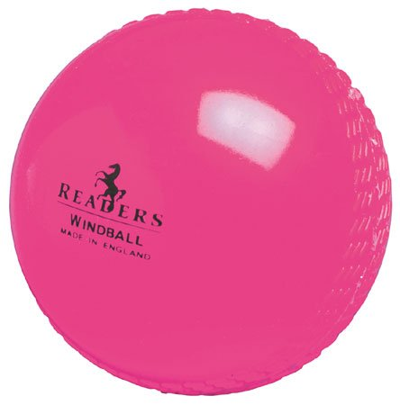 Readers Windball Cricket Ball - Youth Pink