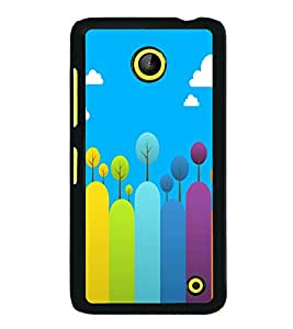 printtech Colored Line Trees Abstract Back Case Cover for Nokia Lumia 630