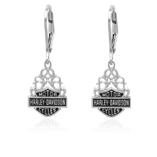 Harley Davidson® flames dangling Sterling Earrings HDE0258 by MOD®