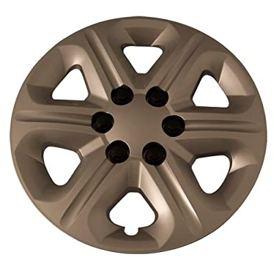 Set of 4 Silver 17 Inch Aftermarket Replacement Hubcaps for a Bolt On Retention System - Part Number: IWC454/17S