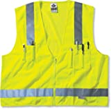 Glowear 8250Z Class 2 Surveyors Vest, Lime, L/XL