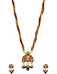 Surana Jewellers Glass Beads Strand Necklace Set For Women (Surana019)