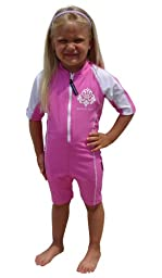Sun Protective UV Swimsuit - Pink Sunsuit - UPF/SPF Protection - Baby & Toddler Girls- 0-6 months