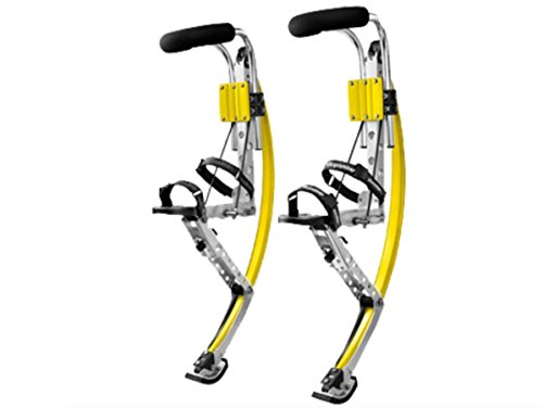 Adult Kangaroo Shoes Jumping Stilts Men Women Fitness Exercise (155~200 Ibs/70~90kg) Bouncing shoes (yellow)