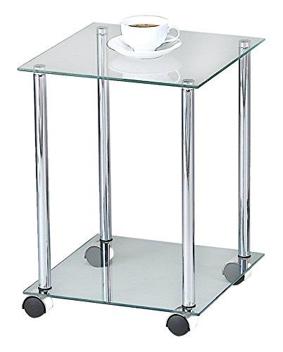Aspekt-Etagere-aus-Glas-Regal-RackBeistelltisch-mit-Rollen-34-x-34-x-46-cm-klar