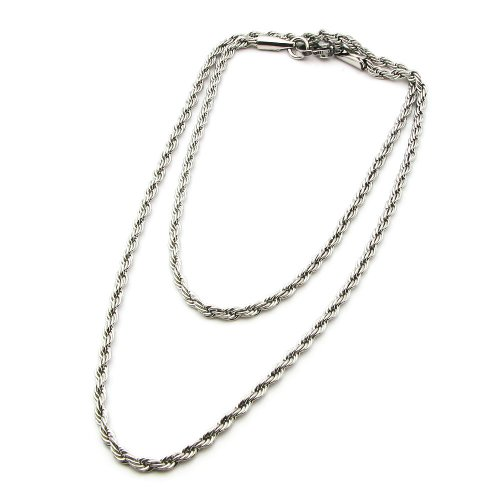 Fashion Titanium Stainless Steel Twisted Serratula Chain Necklace