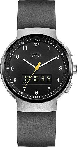 Braun BN0159SLBKBKG - Reloj de pulsera hombre, caucho, color negro