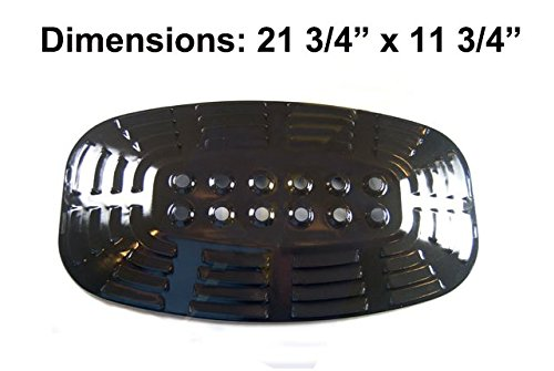 Gas Barbecue Parts Factory Universal 97331 Porcelain Steel Heat Plate /Heat Shield Replacement for Select BBQ Gas Grill Uniflame Gas Grill Models and Uniflame Gas Grill Model 730 Gbc920w1 Gbc1128w (21 3/4 skewers food slicer kebab maker box kit bbq grill accessories tool