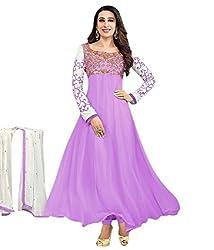 Purple Georgette Anarkali Dress Material