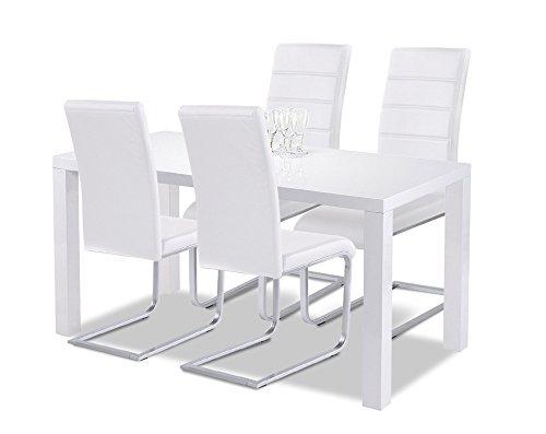 Esstisch Mit Stühlen Weiß Hochglanz ~ esstisch mit stühlen weiß hochglanz – ComForAfrica