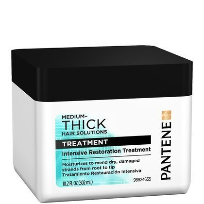 Pantene pro V medium thick hair solutions treatment, intensive restoration - 10.2 oz