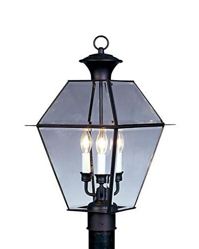 Crestwood Walden 3-Light Post Head, Black