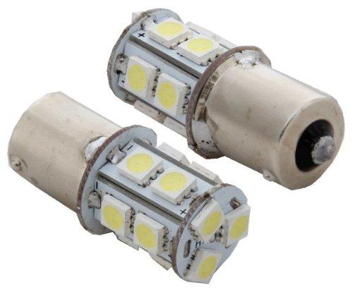 2pcs 13-SMD 1156 S25 Ba15s 12V Backup Signal Blinker Tail Light LED bulbs P21W 7506- White