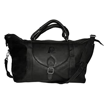 "NBA 25"" Leather Top Zip Travel Duffel Color: Black, NBA Team: Indiana Pacers"