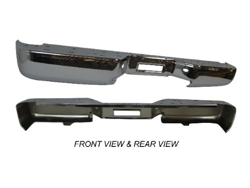 2004-2010 Nissan Titan Rear Step Bumper Face Bar Chrome Without Sensor Hole New front-604241