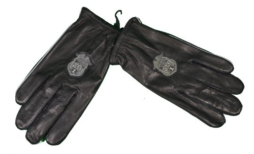 Harley Davidson Motorcycle Glove Police 1 Logo Premium Cabretta Leather Size XL