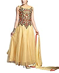 Jiya Women Net Dress(BTSTDRY9063 ,Cream)