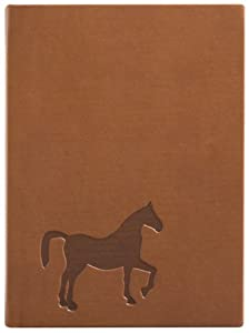 Brown Embossed Horse Leather Journal - Lined