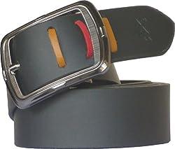 Sondagar Arts Men's Belt (SAB91_Black_34)