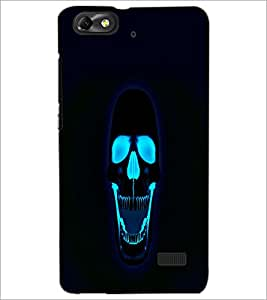 PrintDhaba Skull D-2408 Back Case Cover for HUAWEI HONOR 4C (Multi-Coloured)