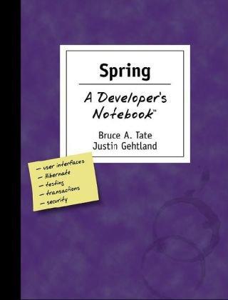 Spring: A Developer's Notebook