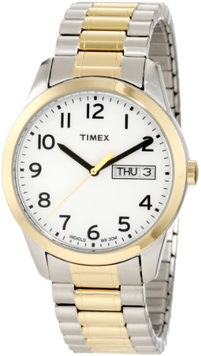 Timex Men's T2N063 Elevated Classics Dress Two-Tone Expansion Band Watch