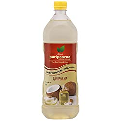 Paripoorna Wood Pressed Coconut Oil,(மர செக�க� எண�ணெய�) 1 Litre