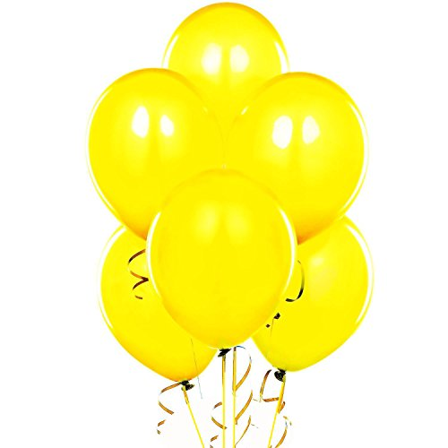 "Qualatex 11"" Round Balloons, Yellow - Pack of 100 - 1"