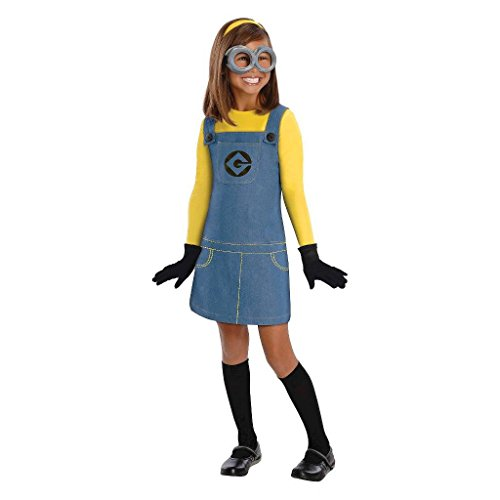 Minion Girl's Halloween Costume (L 10-12) (Minion Costumes Girls)
