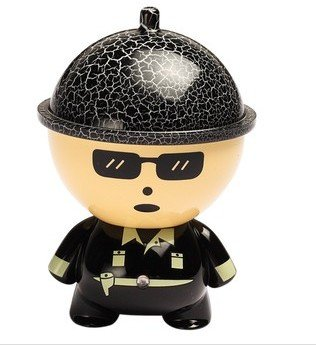 Big Head Cartoon Doll Car Charger- Black - 2.1A- For Apple Iphone 6 5S 5C 5, Ipad Air Mini, Galaxy S5 S4 S3, Note 3 2, Lg G3, Camera Battery Charger, Htc One M8, Ps Vita, Moto X, And More