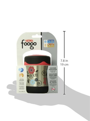 thermos foogo vacuum insulated stainless steel 10 ounce food jar poppy patch. Black Bedroom Furniture Sets. Home Design Ideas