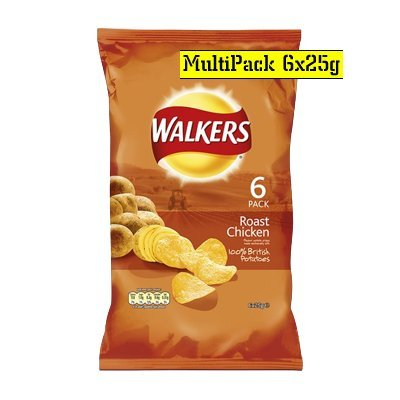 Walkers Roast Chicken Crisps 6 Pack 150g (Chicken Chips Walkers compare prices)