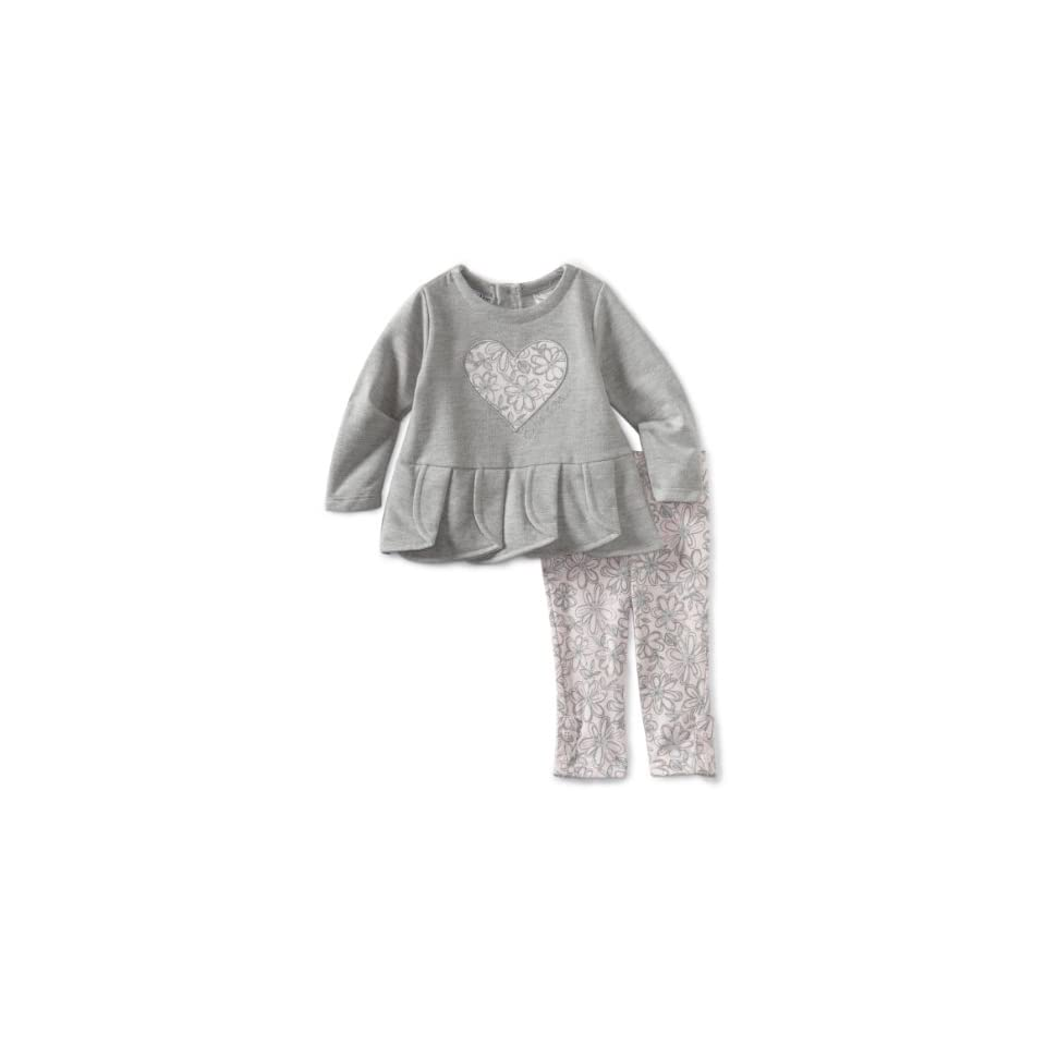 ce0be37f74 Calvin Klein Baby Girls Tunic With Flower Print Leggings