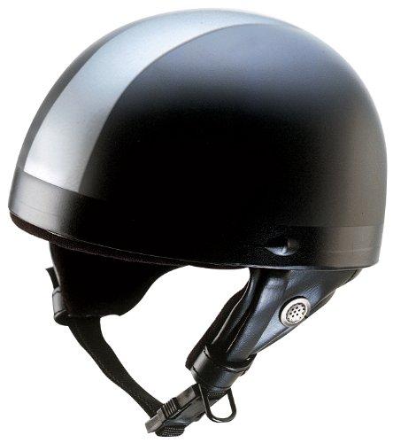 Nikko N10 Casque bol de moto taille M (Noir/argent)