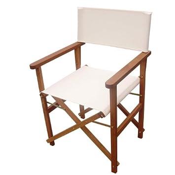 Offerte Tavoli Da Giardino Legno.Sedia Per Tavolo Da Giardino In Legno Maranti Tessuto Ecru Set 2