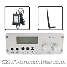 FMUSER St-05c 0.1w 0.5w Home Fm Transmitter Stereo Pll Radio Broadcast Antenna+ps Kit