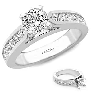 2.00 Ct. tw. Channel-Set Engagement Setting with Round Diamond