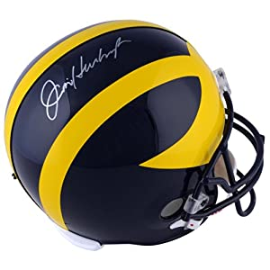 Buy Jim Harbaugh Michigan Wolverines Autographed Riddell Replica Helmet - Memories - Mounted Memories... by Sports Memorabilia