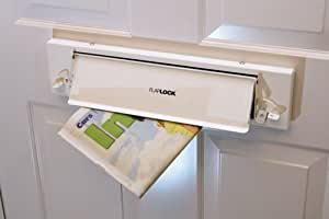 Flaplock - White Letterbox Security Lock to prevent unauthorised access via existing letter flap.