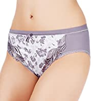 Per Una Comfort Embroidered Floral High Leg Knickers
