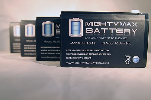 Ml10-12 - 12V 10Ah Schwinn S500 Fs, S-500 Fs Scooter Battery - 4 Pack