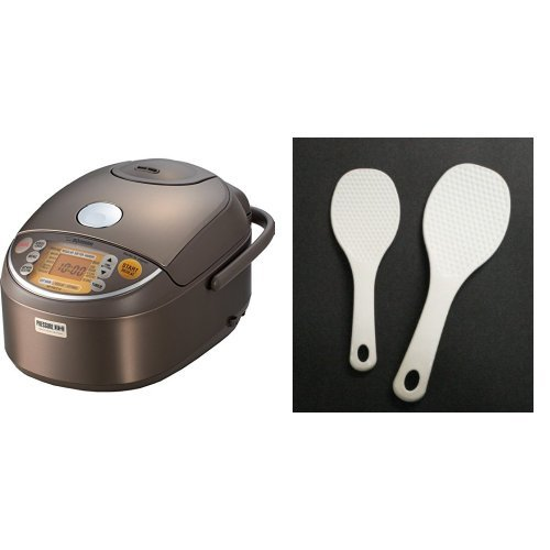 Zojirushi NP-NVC10 Induction Heating Pressure Cooker (Uncooked) and Warmer, 5.5 Cups/1.0-Liter and Inomata 1150 Rice Paddle, White Bundle (Zojirushi Induction Pressure compare prices)
