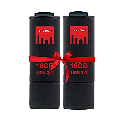 Strontium 16GB Jet USB 3.0 - Value Pack