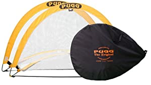 Pugg Pair of Pop Up Goals - Yellow/Black, 6 Ft