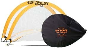 Pugg Pair of Pop Up Goals - Yellow/Black, 6 Ft